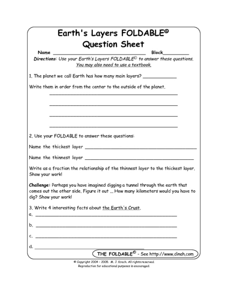 Printables High School Earth Science Worksheets printables high school earth science worksheets safarmediapps layers of the worksheet intrepidpath answers worksheets