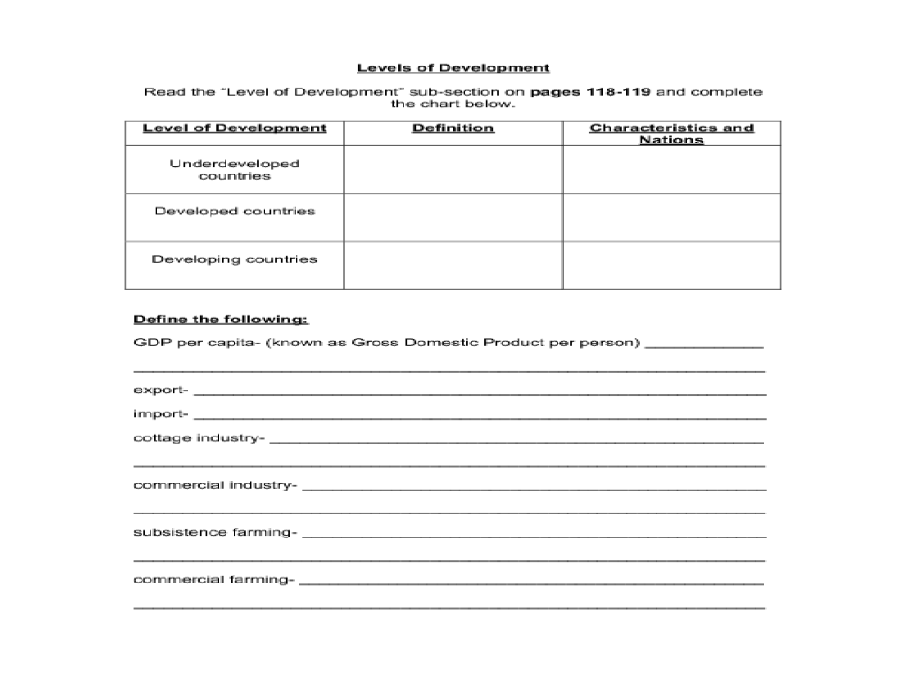 Printables Economics Worksheets For High School economic systems and activities notes 10th 12th grade worksheet lesson planet