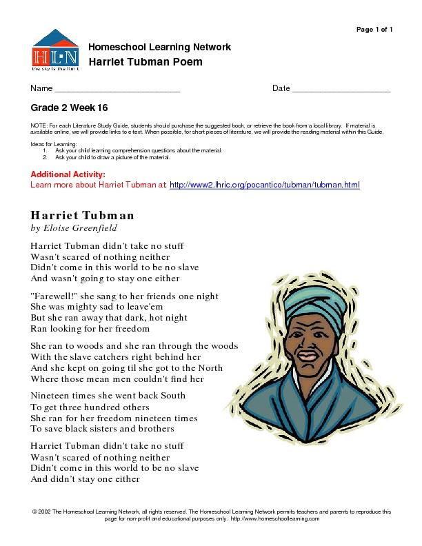 Harriet Tubman Worksheets For Kindergarten - Intrepidpath