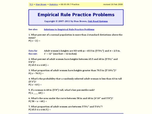 Printables Empirical Rule Worksheet empirical rule worksheet davezan practice problems 9th 12th grade worksheet