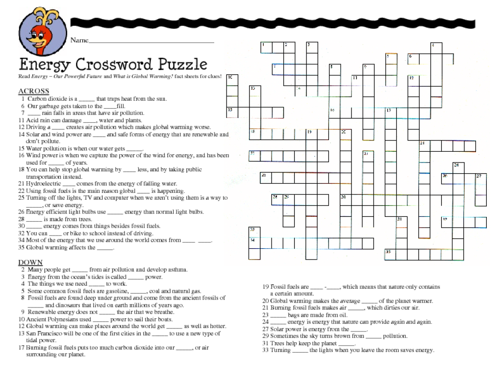 Math Crossword Puzzles For 7th Grade 7th grade science crossword
