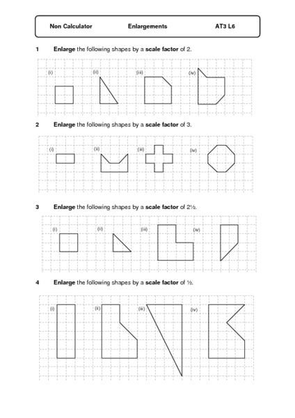 Dilations worksheet 8th grade math
