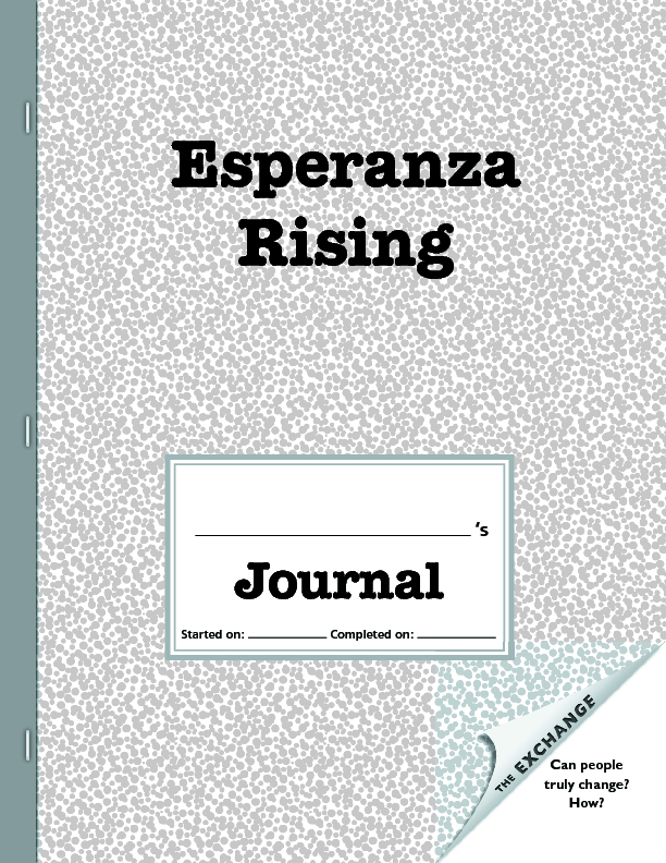 esperanza rising essay questions Esperanza rising study guide esperanza rising study guide why didn't esperanza and her mother stay in the house after her father was murdered we will write a custom essay sample on esperanza rising study guide or any similar topic only for you order now why does tío luis want.