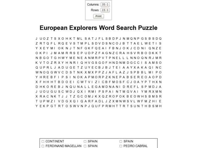 Printables Early Explorers Worksheets lesson plans for 5th grade social studies explorers 3rd european word search puzzle 6th worksheet