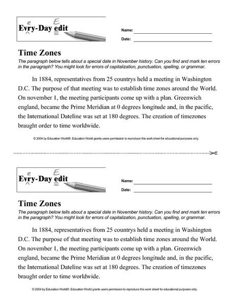 Common Worksheets » Time Zones Worksheets Ks2 - Preschool and ...