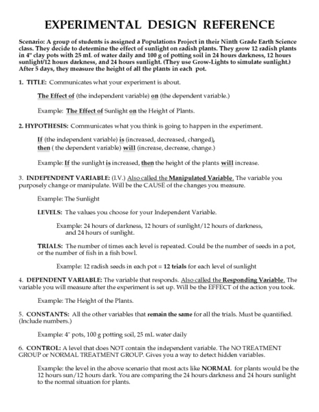 Printables Experimental Design Worksheet experimental design reference 9th 12th grade worksheet lesson planet