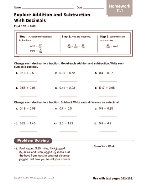 Homework help adding fractions