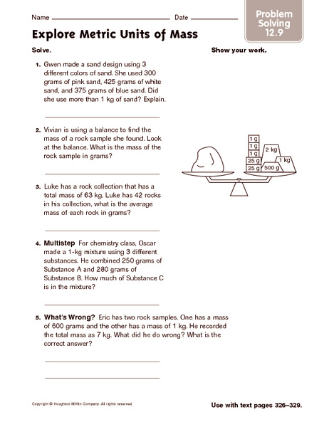 Metric System Word Problems Worksheet - Intrepidpath