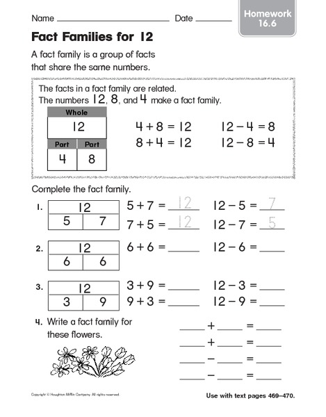 Printables Fact Family Worksheets 2nd Grade free fact families worksheets 2nd grade intrepidpath family for first graders 1000 images about