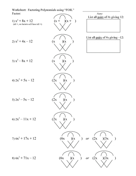 Foil method worksheet with answers