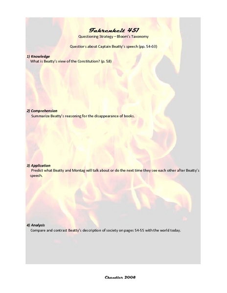 Fahrenheit 451 Part 3 Worksheet - The Best and Most Comprehensive ...