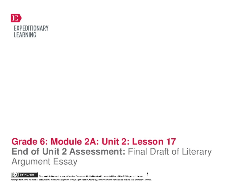 literary essay lesson plan Literary theory: an introduction lesson plans include daily lessons, fun activities, essay topics, test/quiz questions, and more everything you need to teach.