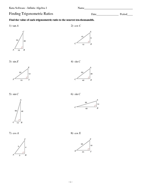 Law Of Cosine Worksheet Free Worksheets Library | Download and ...
