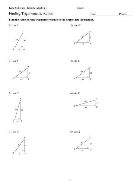 math worksheet : trigonometric ratios worksheet math aids  worksheets for education : Math Aids Worksheets