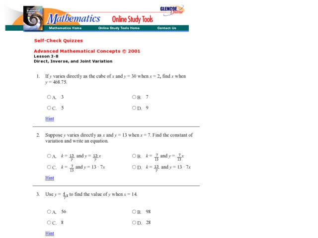 Inverse Variation Word Problems Worksheet With Answers - Worksheets