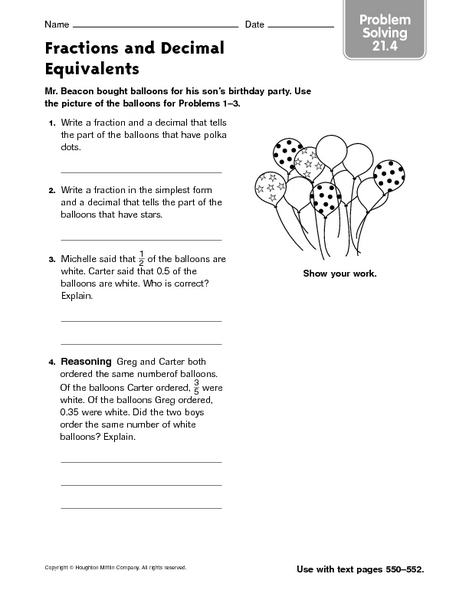 5nf1 Worksheets  Common Core Sheets