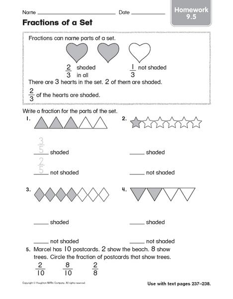 Fractions Of A Set Worksheets 4th Grade - K5 Education ResourcesFraction Of A Set Worksheets 4th Grade