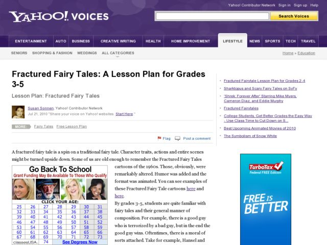 Fractured Fairy Tales 2nd - 4th Grade Lesson Plan | Lesson Planet