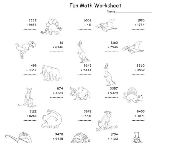 Worksheets Multi Digit Addition Worksheets multi digit math worksheets fun worksheet multiple addition 2nd 4th grade lesson planet