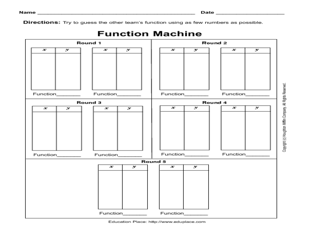 function machine worksheets laveyla – Function Worksheets