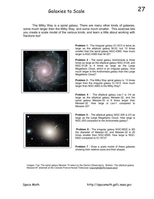Shapes of Galaxies Worksheet - Pics about space