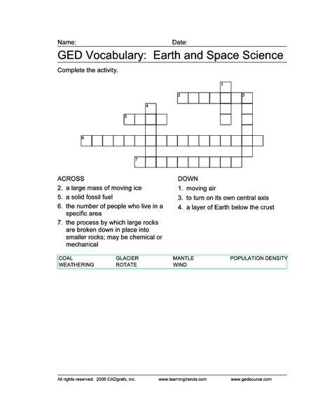 earth space science worksheets - photo #13