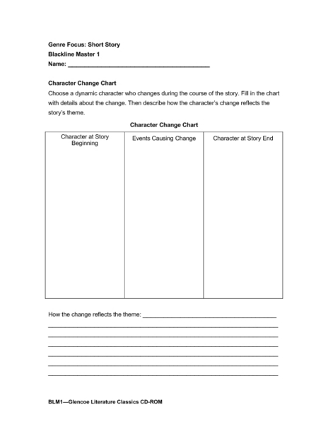 Worksheets Short Story Worksheet genre focus short story blackline master 1 7th 12th grade worksheet lesson planet
