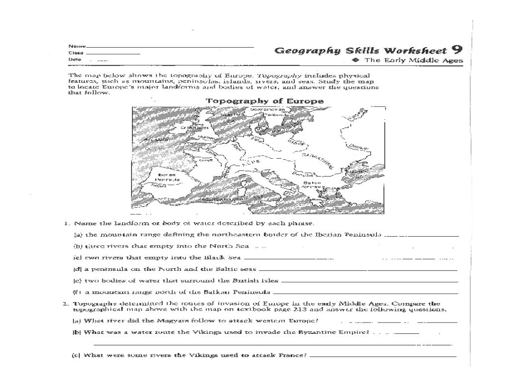 Geography Worksheet 006 - Geography Worksheet