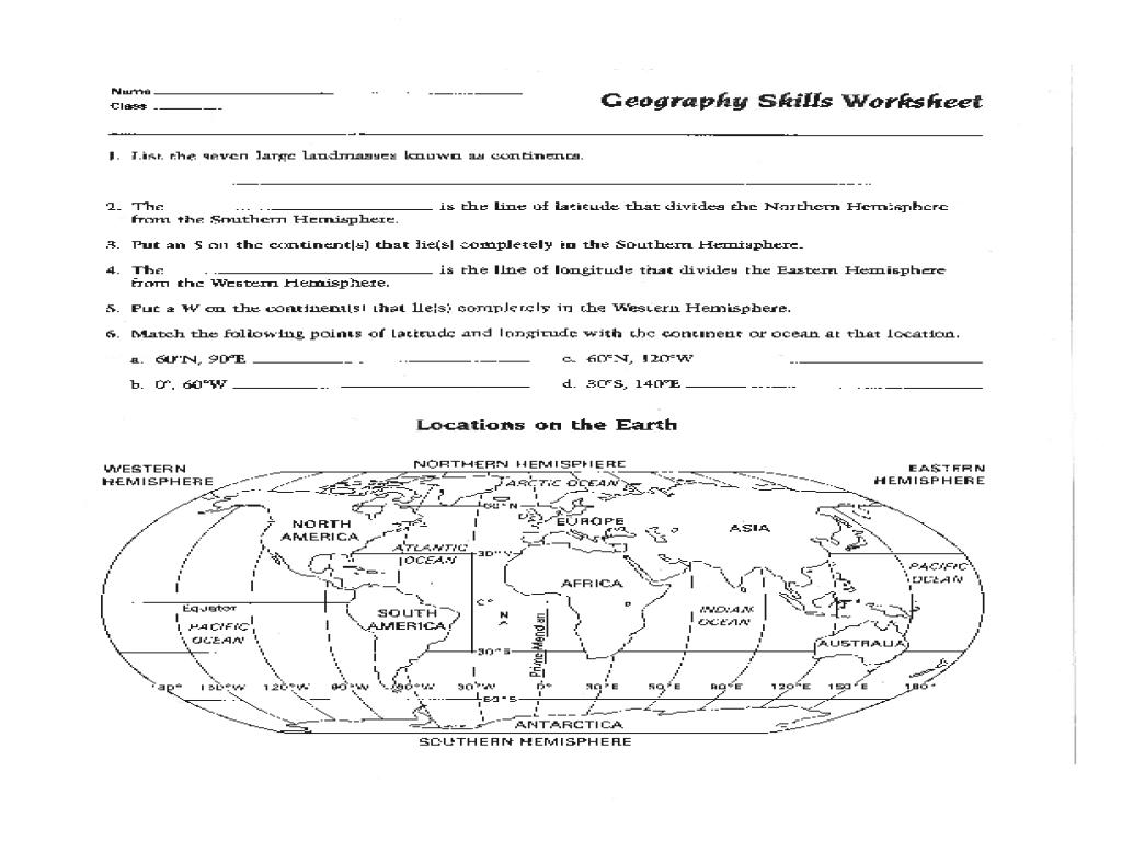 Geography Worksheet 016 - Geography Worksheet