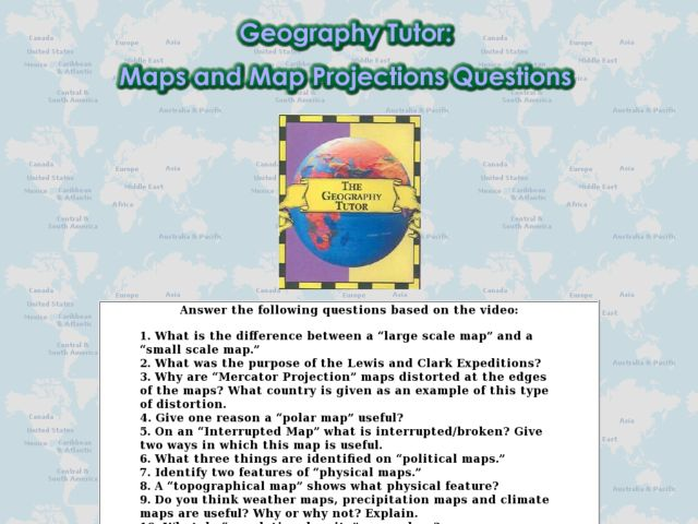 map projections worksheet free worksheets library download and print worksheets free on. Black Bedroom Furniture Sets. Home Design Ideas