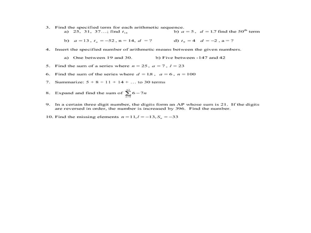 Arithmetic And Geometric Sequences Worksheet Kuta - Deployday
