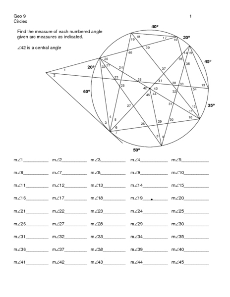 All Worksheets u00bb Geometry Circle Proofs Worksheets ...