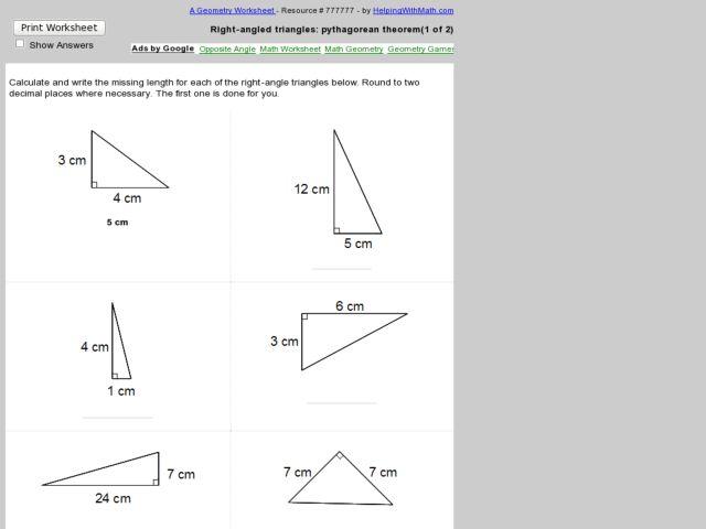 Best 4 Sheet kindergarten math activity worksheets free math – Math Pythagorean Theorem Worksheets