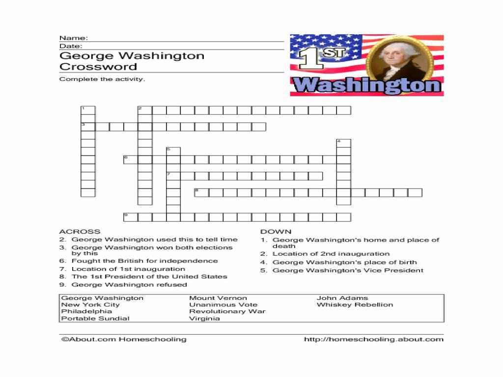 George Washington Worksheet Templates and Worksheets – George Washington Worksheets