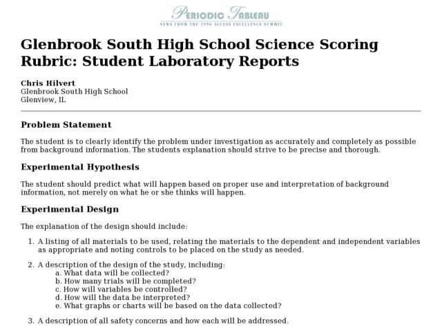 essay scoring rubric high school