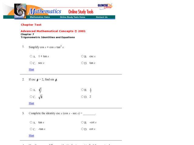 Trigonometry Review Worksheet Ukrobstep – Trigonometry Review Worksheet