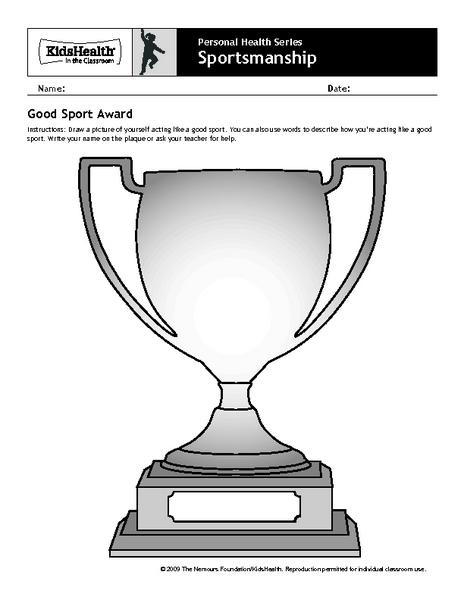 Sportsmanship 5th - 6th Grade Worksheet | Lesson Planet