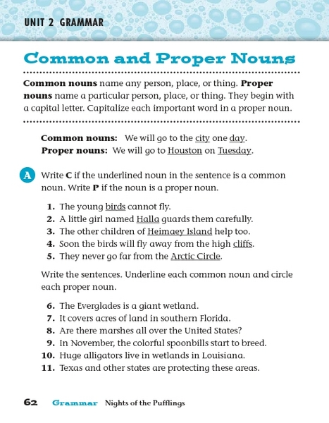 adjective and common noun proper Proper and common nouns worksheets identifying proper and common noun worksheet about this worksheet: this proper and common nouns worksheet directs the student to read each sentence and underline the proper noun or nouns once and the common noun or nouns twice a proper noun names a special person, place, thing or idea.