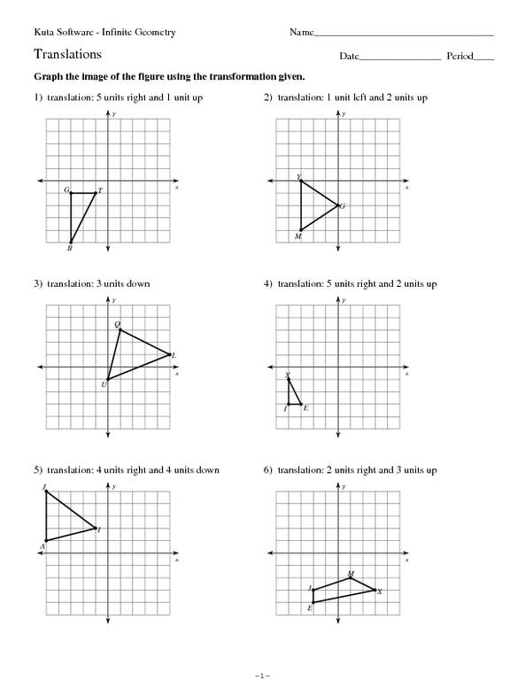 8th Grade Math Transformations Worksheet Delibertad – Translations Math Worksheets