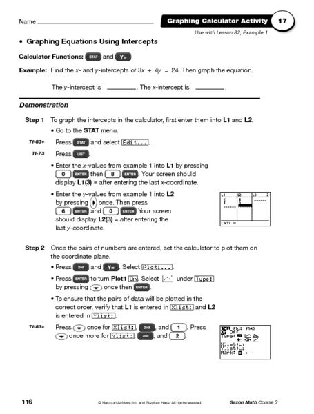 worksheets graphing using intercepts worksheet opossumsoft worksheets and printables. Black Bedroom Furniture Sets. Home Design Ideas