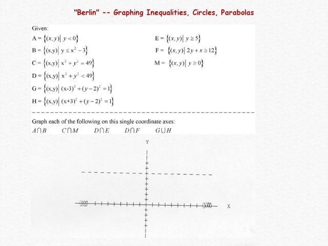 Graphing Linear Circular and Parabolic Inequalities 10th 12th – Graphing Circles Worksheet