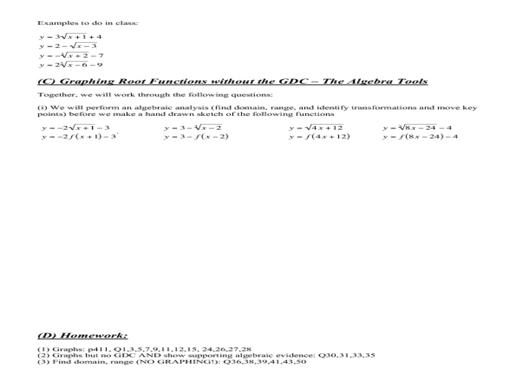 Graphing Radical Functions Worksheet 1 Answers Sheet Page – Graphing Radical Functions Worksheet