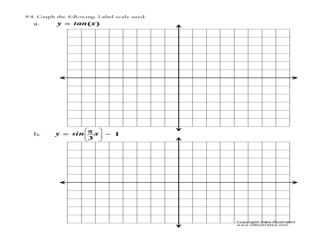 Printables Graphing Trig Functions Worksheet printables graphing trig functions worksheet safarmediapps 11th 12th grade lesson planet