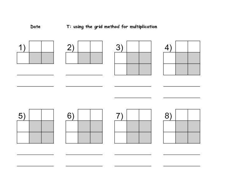 multiplying using the grid method tes multiplication grid method worksheet tes word problems. Black Bedroom Furniture Sets. Home Design Ideas
