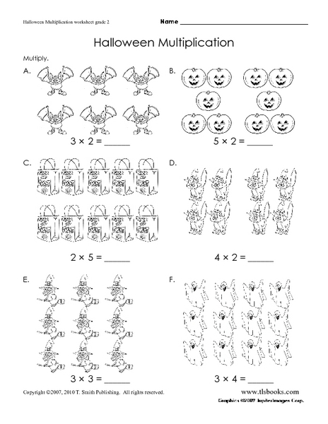 Multiplication Worksheets : multiplication worksheets halloween ...