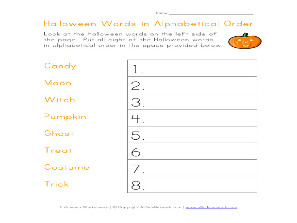Uncategorized Alphabetizing Worksheets worksheet alphabetizing worksheets luizah and essay halloween words in alphabetical order 1st 2nd grade lesson planet