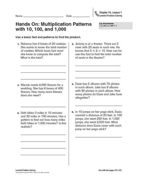 Common Worksheets » Multiplication Patterns With Zeros Worksheets ...