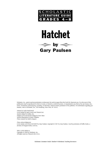 Worksheet Hatchet Worksheets hatchet by gary paulsen 4th 8th grade worksheet lesson planet