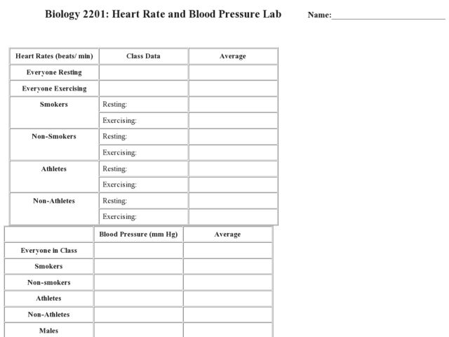 Target Heart Rate Worksheet Answers - Intrepidpath