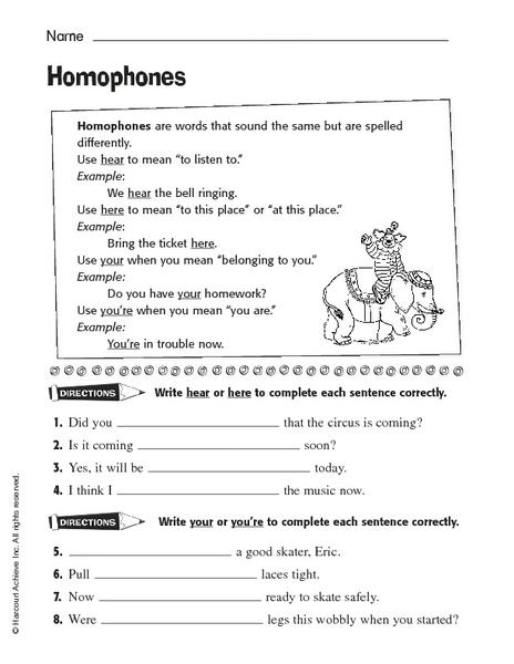 worksheets your you re worksheet opossumsoft worksheets and printables. Black Bedroom Furniture Sets. Home Design Ideas